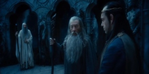 """Oh God, he's behind me isn't me? I hate that guy! Ok, be cool, Gandalf. He's the head of your order, don't screw it up -"""