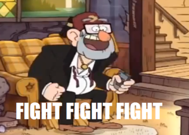 Grunkle Stan fight