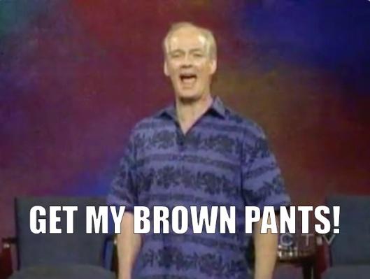 colin mochirie brown pants