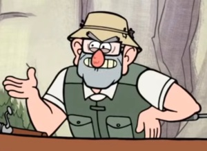 grunkle stan aim-is-getting-better