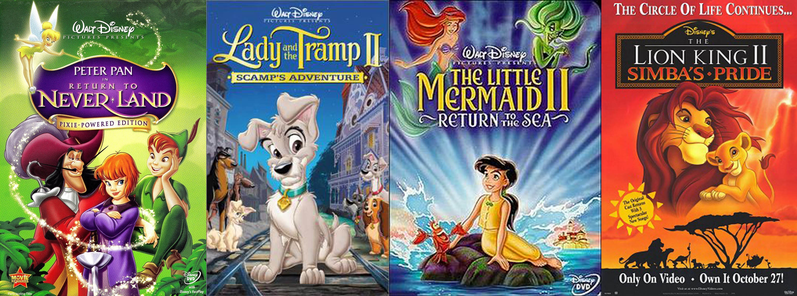 disney direct to video sequels