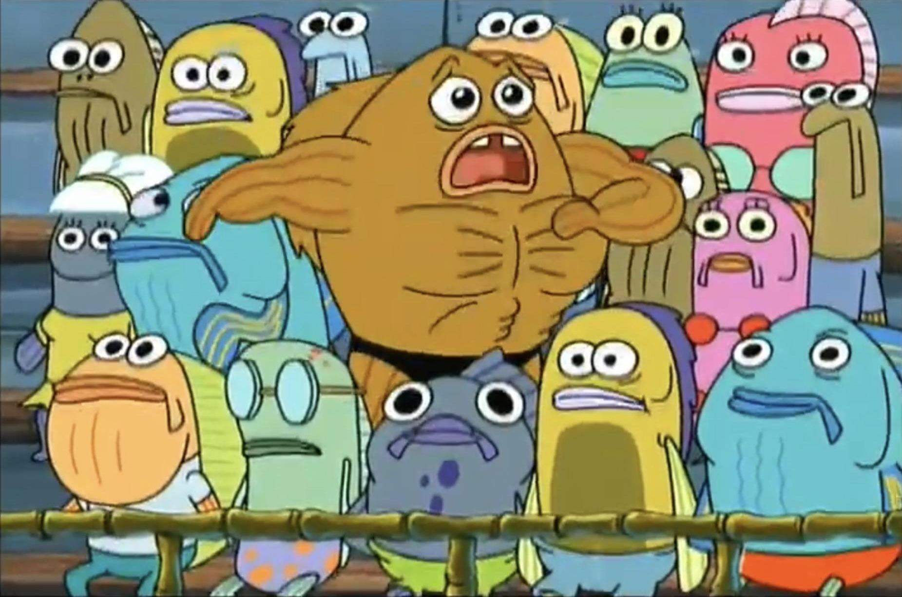 spongebob i gotta get outta here