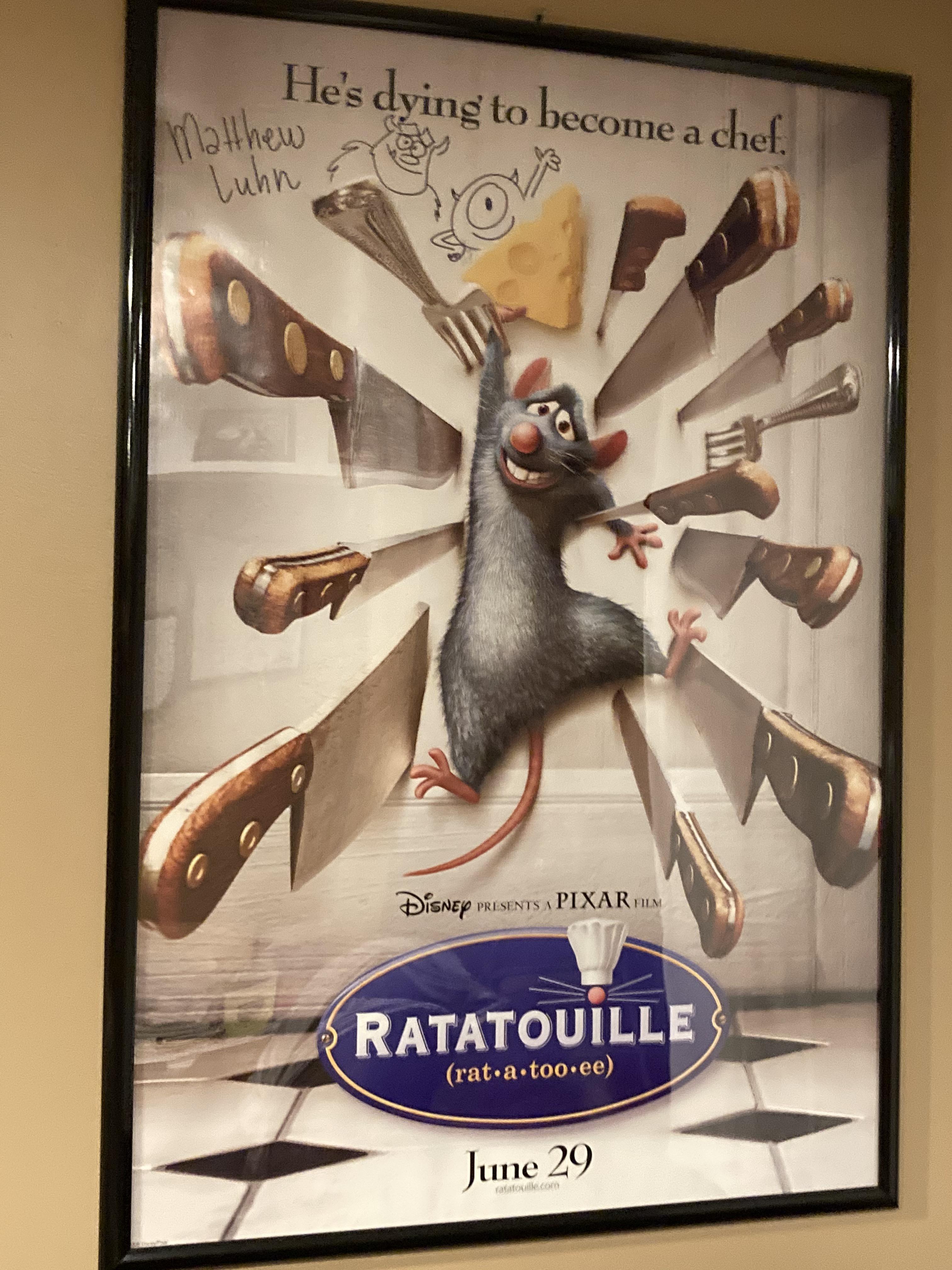 signed ratatouille poster